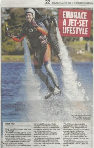 Daily Telegraph article Jetpack Adventures pilot Brad Hudson Au