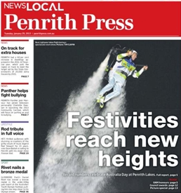 penrith press front page buzz lightyear jetpack adventures